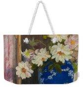 Abbott Graves 1859-1936 Flowers In A Blue Vase Weekender Tote Bag