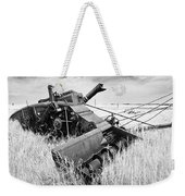 Abondoned Combine In Tall Grass Weekender Tote Bag