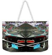 Abstract Black Car Weekender Tote Bag