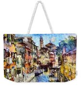 Abstract Canal Scene In Venice L A S Weekender Tote Bag