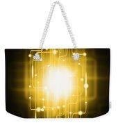 Abstract Circuit Board Lighting Effect  Weekender Tote Bag by Setsiri Silapasuwanchai