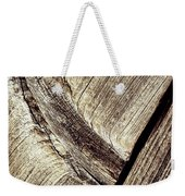 Abstract Detail Of A Wooden Old Board Weekender Tote Bag
