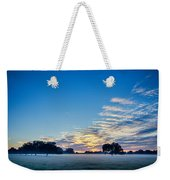 Abstract Early Morning Sunrise Over Farm Land Weekender Tote Bag
