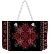 Abstract Ethnic Shawl Floral Pattern Design Weekender Tote Bag