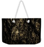 Abstract Gold And Black Texture Weekender Tote Bag