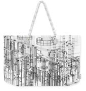 Abstract Industrial And Technology Background Weekender Tote Bag