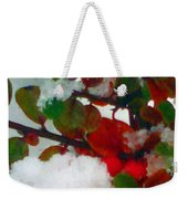 Abstract Landscape,winter Theme Weekender Tote Bag