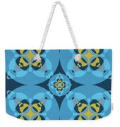 Abstract Mandala Cyan, Dark Blue And Yellow Pattern For Home Decoration Weekender Tote Bag