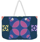 Abstract Mandala Pink, Dark Blue And Cyan Pattern For Home Decoration Weekender Tote Bag