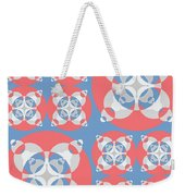Abstract Mandala White, Pink And Blue Pattern For Home Decoration Weekender Tote Bag