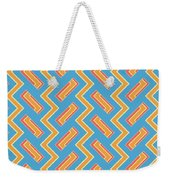 Abstract Orange, White And Red Pattern For Home Decoration Weekender Tote Bag