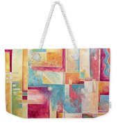Abstract Pop Art Style Unique Pastel Painting Contemporary Art By Megan Duncanson Weekender Tote Bag