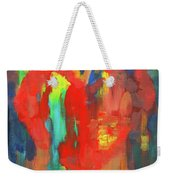Abstract Red Heart Acrylic Painting Weekender Tote Bag