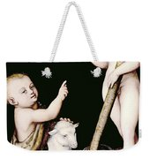 Adoration Of The Child Jesus By St John The Baptist Weekender Tote Bag