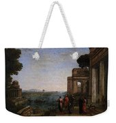 Aeneas Farewell To Dido In Carthago  Weekender Tote Bag