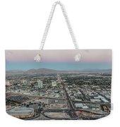 Aerial View Of Las Vegas City Weekender Tote Bag