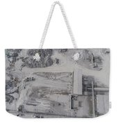 Aerial View Of Open Pit Sand Quarries.  View From Above.  Weekender Tote Bag