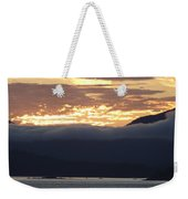 Alaskan Coast Sunset, View Towards Kosciusko Or Prince Of Wales  Weekender Tote Bag
