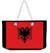 Albania Flag Weekender Tote Bag