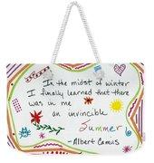 Albert Camus Doodle Quote Weekender Tote Bag