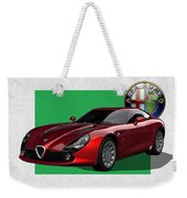 Alfa Romeo Zagato  T Z 3  Stradale With 3 D Badge  Weekender Tote Bag