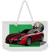 Alfa Romeo Zagato  T Z 3  Stradale With 3 D Badge  Weekender Tote Bag