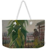 Allotment With Sunflower Paris, July 1887 Vincent Van Gogh 1853 - 1890 Weekender Tote Bag