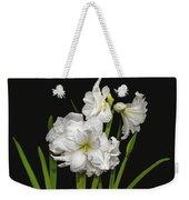 White Amaryllis Weekender Tote Bag