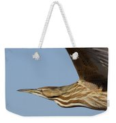 American Bittern Flies By Weekender Tote Bag