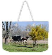 Amish Buggy Late Fall Weekender Tote Bag