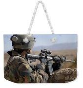 An Afghan Commando Scans The Horizon Weekender Tote Bag