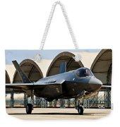 An F-35 Lightning II Taxiing At Eglin Weekender Tote Bag