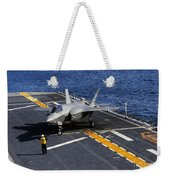 An F-35b Lightning II Makes A Vertical Weekender Tote Bag