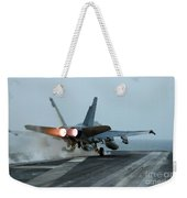 An Fa-18 Hornet Launches Weekender Tote Bag
