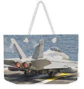 An Fa-18f Super Hornet Taking Off Weekender Tote Bag