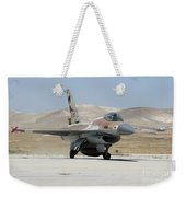 An Israeli Air Force F-16a Netz Taxiing Weekender Tote Bag