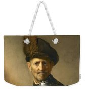 An Old Man In Military Costume Weekender Tote Bag