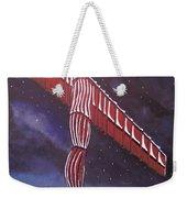 Angel Of The North Christmas Weekender Tote Bag