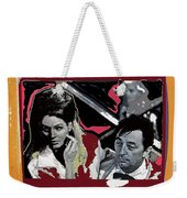 Angie Dickinson Robert Mitchum Pose Collage Young Billy Young Old Tucson Arizona 1968-2013 Weekender Tote Bag