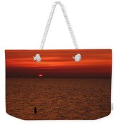 Angler In Summer Sunset Weekender Tote Bag