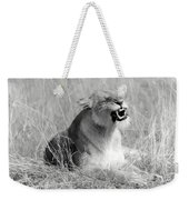 Angry Lioness Weekender Tote Bag