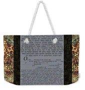 Animal Ketubah- Reformed And Interfaith Version Weekender Tote Bag