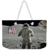 Apollo 17 Astronaut Stands Weekender Tote Bag