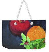 Apple, Orange And Red Basil Weekender Tote Bag