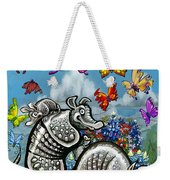 Armadillos Bluebonnets And Butterflies Weekender Tote Bag