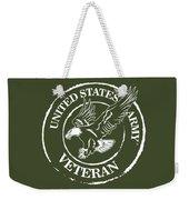 Army Veteran Weekender Tote Bag