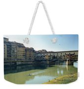 Arno River In Florence Italy Weekender Tote Bag