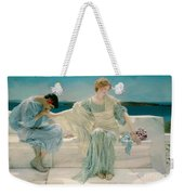 Ask Me No More Weekender Tote Bag by Sir Lawrence Alma-Tadema