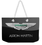 Aston Martin 3 D Badge On Black  Weekender Tote Bag