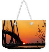 At The End Of The Bridge Weekender Tote Bag